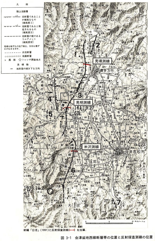 会津盆地西縁断層帯
