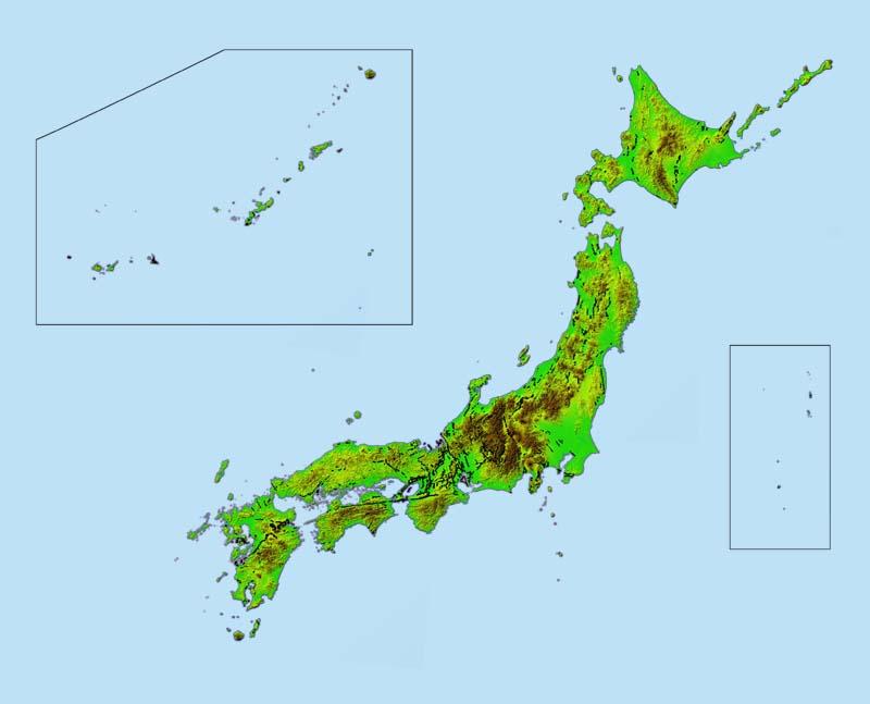 図2-23 日本列島の地形と ... : 中部地方の地図 : すべての講義
